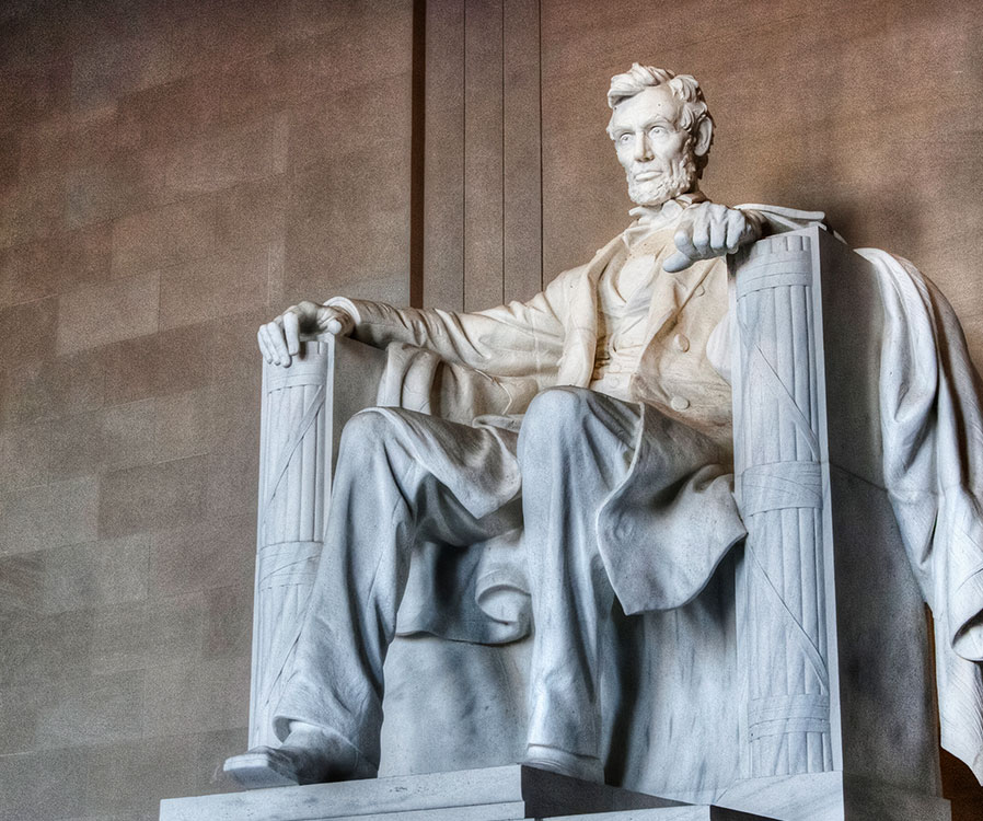 The Lincoln Memorial in Washington, District of Columbia
